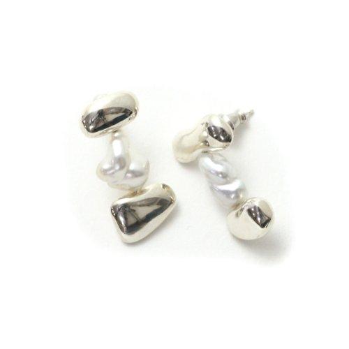 MIKU FUKAMITSU(ミク フカミツ) / 重ねる耳飾り ピアス (silver925 / パール)