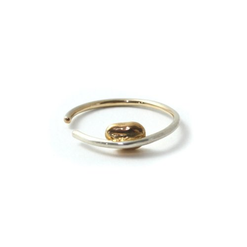 MIKU FUKAMITSU(ミク フカミツ) / 泡のドローイングリング01 Motif Gold (SV / k18pt)