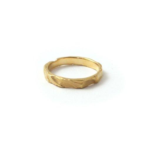 MIKU FUKAMITSU(ミク フカミツ) / 波線のリング / (ゴールド / SV / k18pt)