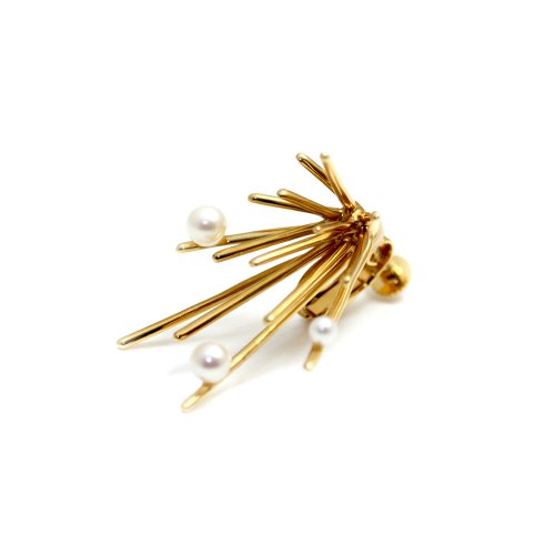 Lamie(ラミエ) / 122E Pearl Down Spark (M) Gold イヤリング(片耳タイプ)