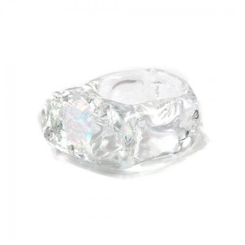 Luce macchia(ルーチェマッキア) / white circle ring リング
