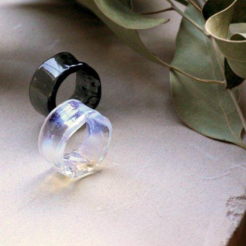 Luce macchia(ルーチェマッキア) / color rippy circle ring リング - ブラック