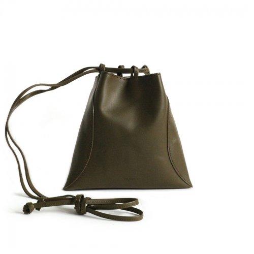 MARROW(マロウ) / MA-AC8106 / PILLOW-3 レザー巾着型ハンドバッグ - OLIVE