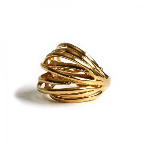 Lamie(ラミエ) / E416 spiral ring リング - ゴールド