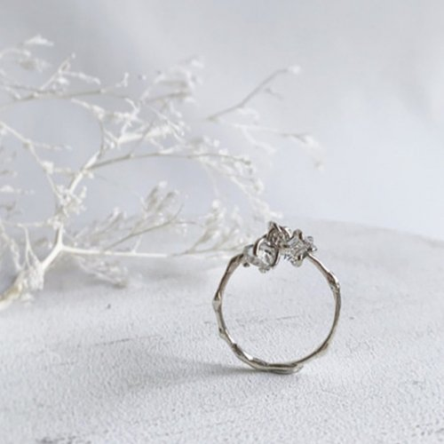 NOZOMI DESIGNS.(ノゾミデザイン) /  - Diamond / Sway Ring 3 - SV リング -シルバー<img class='new_mark_img2' src='https://img.shop-pro.jp/img/new/icons7.gif' style='border:none;display:inline;margin:0px;padding:0px;width:auto;' />