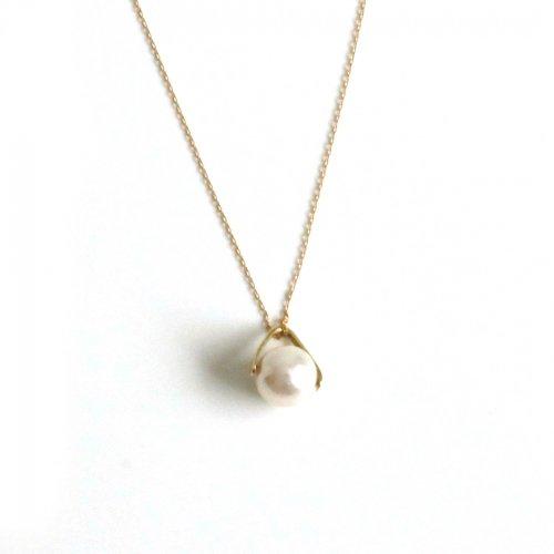 hirondelle et pepin(イロンデールエペパン)/ hn-21fw-548 k18 sirene perl necklace シレーヌ パール ネックレス - ゴールド