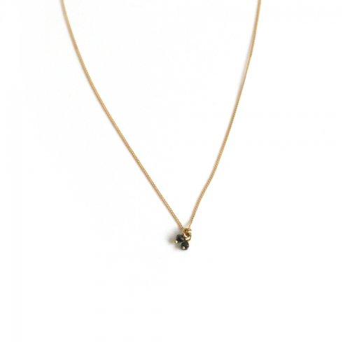 hirondelle et pepin(イロンデールエペパン)/ hn-21fw-549 k18 sorciere necklace ソルシエール ダイヤモンド ネックレス - ゴールド