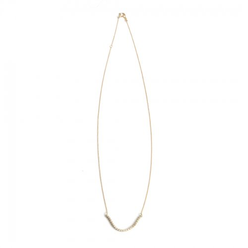 hirondelle et pepin(イロンデールエペパン)/ hn-21fw-550 k18 princesse necklace プランセス ダイヤモンド ネックレス - ゴールド