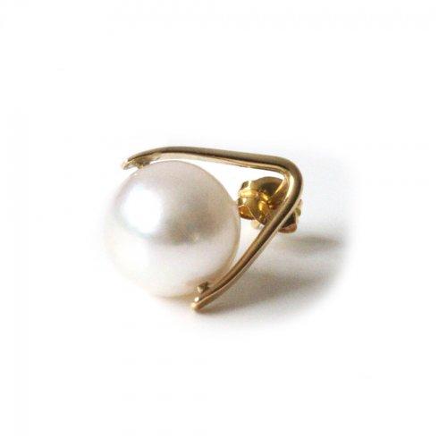 hirondelle et pepin(イロンデールエペパン)/ hp-21fw-656 k18 sirene perl pierce シレーヌ パール ピアス - ゴールド(片耳タイプ)