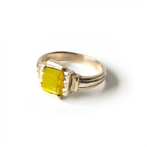 hirondelle et pepin(イロンデールエペパン)/ hr-21fw-580-c k10 prince grass ring プランス ガラス リング - イエロー