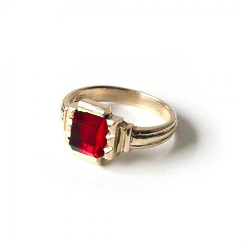 hirondelle et pepin(イロンデールエペパン)/ hr-21fw-580-e k10 prince grass ring プランス ガラス リング - レッド