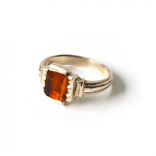 hirondelle et pepin(イロンデールエペパン)/ hr-21fw-580-f k10 prince grass ring プランス ガラス リング - オレンジ