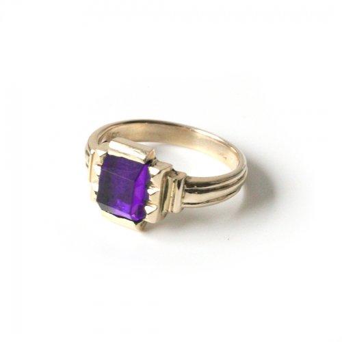 hirondelle et pepin(イロンデールエペパン)/ hr-21fw-580-i k10 prince grass ring プランス ガラス リング - パープル