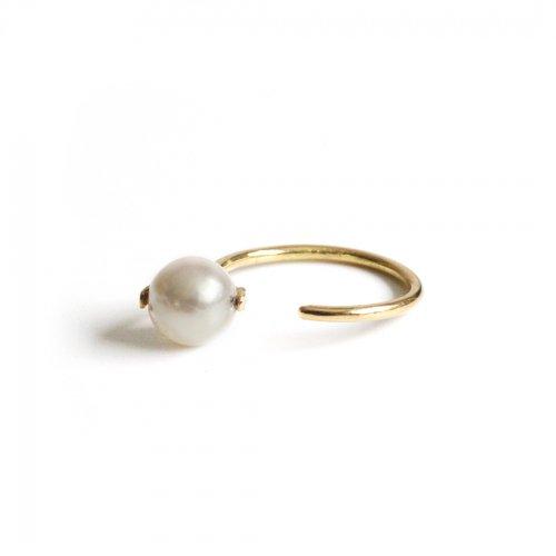 hirondelle et pepin(イロンデールエペパン)/ hr-21fw-576 k18 sirene perl ring シレーヌ パール リング - ゴールド
