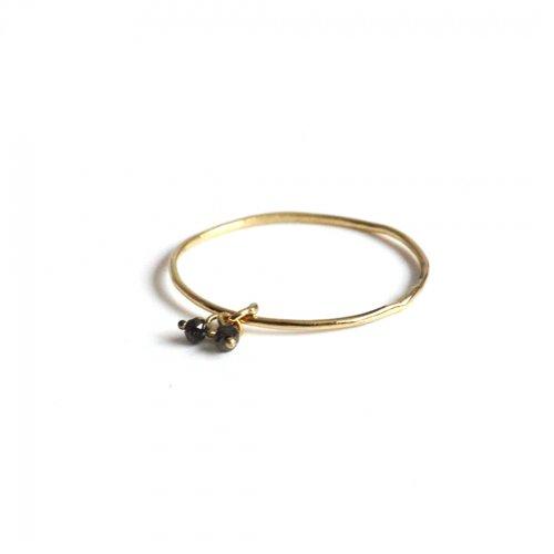 hirondelle et pepin(イロンデールエペパン)/ hr-21fw-577 k18 sorciere diamond ring ソルシエール ブラックダイヤモンド リング