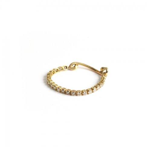 hirondelle et pepin(イロンデールエペパン)/ hr-21fw-578 k18 princesse diamond ring プランセス ダイヤモンド リング - ゴールド