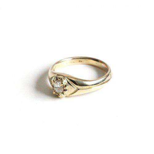 hirondelle et pepin(イロンデールエペパン)/ hr-21fw-579 k10 prince diamond ring プランス ダイヤモンド リング - ゴールド