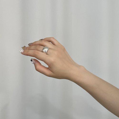 BYOKA(ビョーカ)/ R1101 BARREL RING リング - シルバー