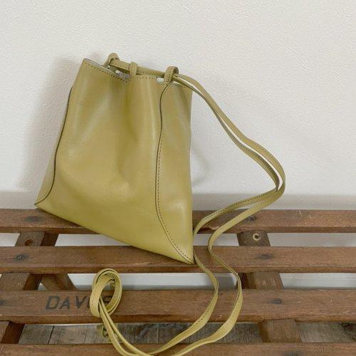 MARROW(マロウ) / MA-AC8106 / PILLOW-3 レザー巾着型ハンドバッグ - Uguisu ウグイス