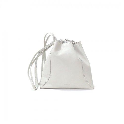 MARROW(マロウ) / MA-AC8106 / PILLOW-3 レザー巾着型ハンドバッグ - Light gray ライトグレー