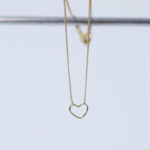 hirondelle et pepin(イロンデールエペパン) / k18 hn-9-2-235 ワイヤーハートネックレス