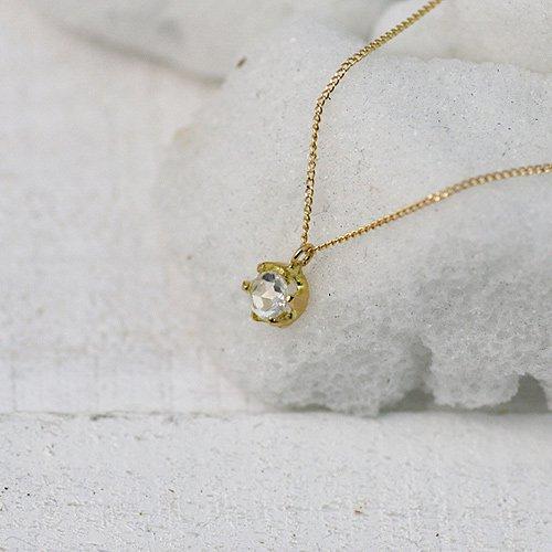 hirondelle et pepin(イロンデールエペパン) / k18 hn-9s-266 ローズカットダイヤネックレス