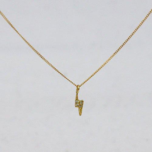 hirondelle et pepin(イロンデールエペパン) / k18 hn-9s-262 flash ダイヤネックレス - サンダー