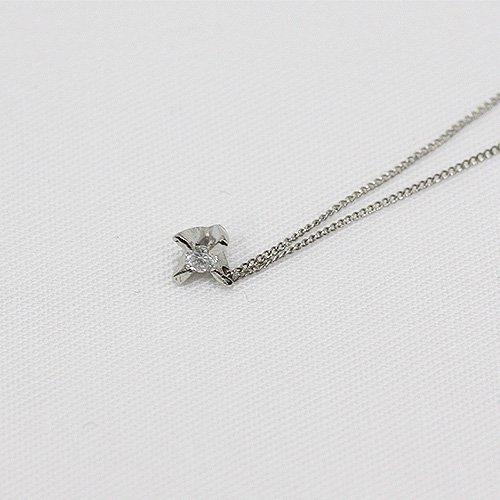 hirondelle et pepin(イロンデールエペパン) / pt pn-10w-14 立て爪ダイヤネックレス