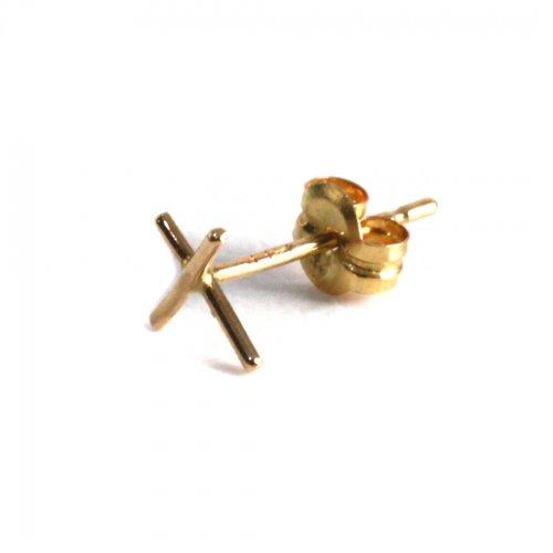 hirondelle et pepin(イロンデールエペパン) / k18 hp-8-8-166 クロスピアス(片耳タイプ)