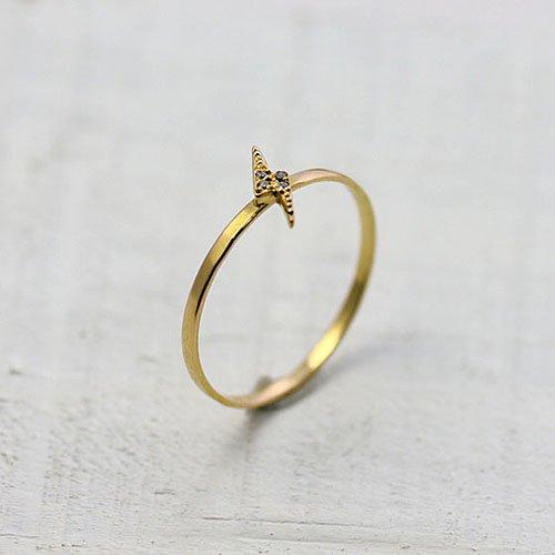 hirondelle et pepin(イロンデールエペパン) / k18 hr-9s-257 flashダイヤリング - サンダー