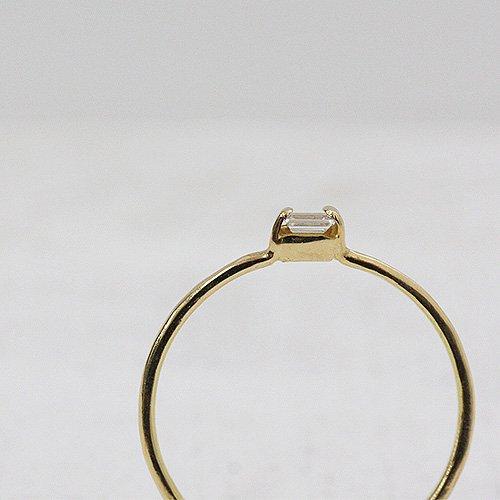hirondelle et pepin(イロンデールエペパン) / k18 hr-10w-286 バゲットダイヤリング