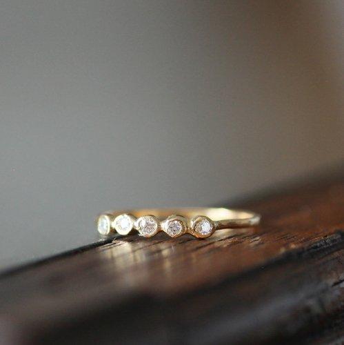 hirondelle et pepin(イロンデールエペパン) / k18 hr-10w-289 5石ダイヤモンドリング