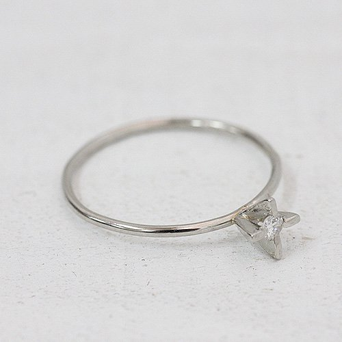 hirondelle et pepin(イロンデールエペパン) / pt pr-10w-24 立て爪ダイヤリング