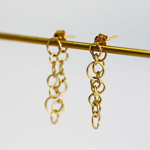 【廃番商品】Perche?(ペルケ) / k18 round chain ピアス