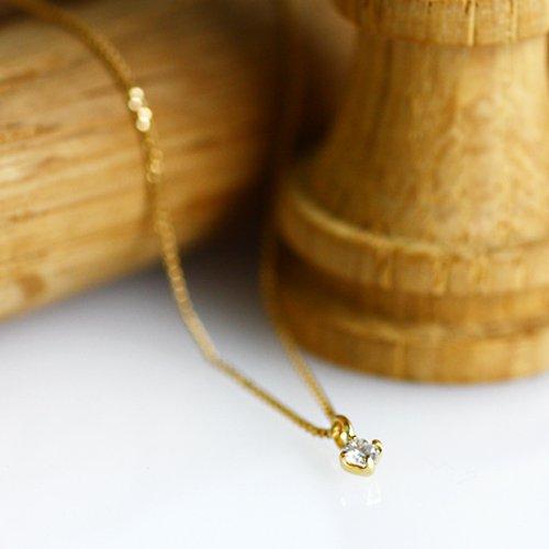 【廃番商品】Perche?(ペルケ) / k18 ダイヤモンド ネックレス- 0.03ct