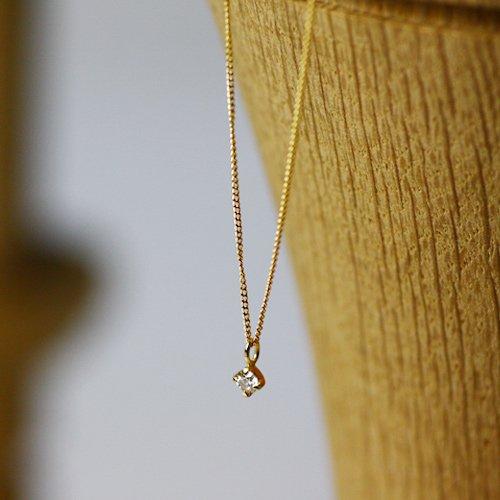 【廃番商品】Perche?(ペルケ) / k18 ダイヤモンド ネックレス - 0.05ct