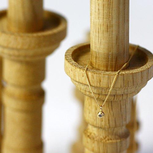 【廃番商品】Perche?(ペルケ) / k18 ダイヤモンド ball ネックレス