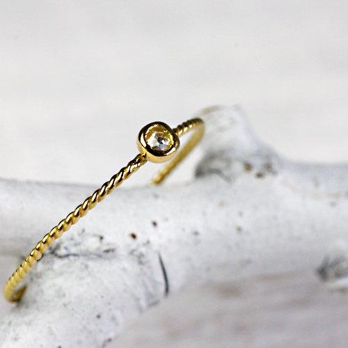 hirondelle et pepin(イロンデールエペパン) / k18 hr-292 ミニローズカットダイヤリング