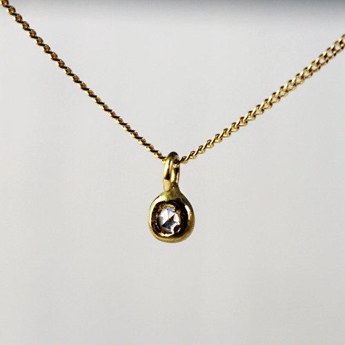 hirondelle et pepin(イロンデールエペパン) / k18 hn-287 ミニローズカットダイヤネックレス