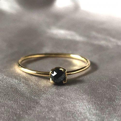 hirondelle et pepin(イロンデールエペパン) / k18 hr-295 ローズカットブラックダイヤリング