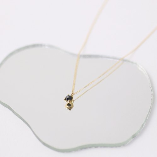 hirondelle et pepin(イロンデールエペパン) / k18 hn-291 ローズカットブラックダイヤネックレス