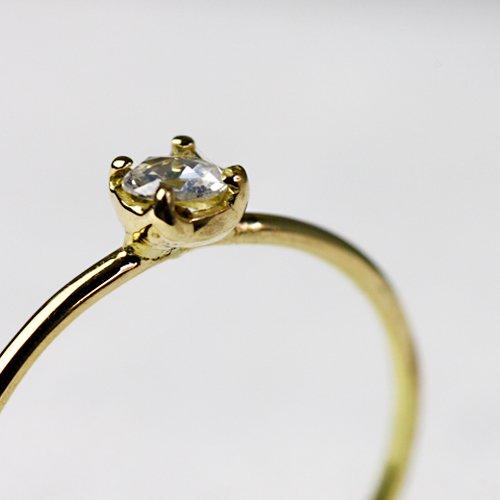 hirondelle et pepin(イロンデールエペパン) / k18 hr-293 ローズカットダイヤリング