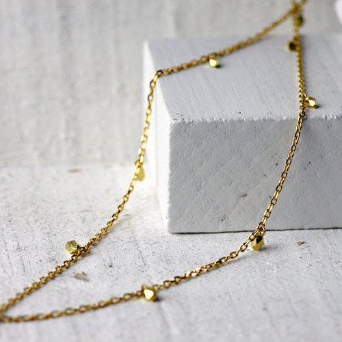 【廃番商品】hirondelle et pepin(イロンデールエペパン) / k18 hn-308 玉切子ネックレス