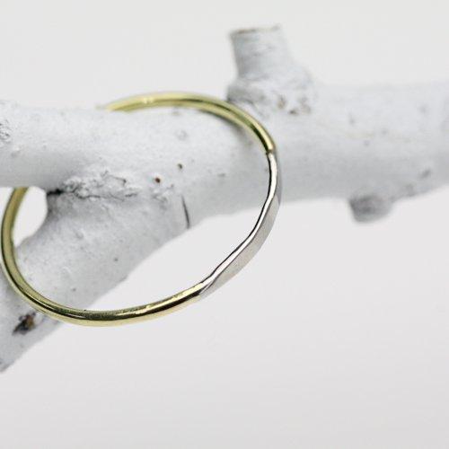 【廃番商品】hirondelle et pepin(イロンデールエペパン) / k18 pt pr-32 コンビリング