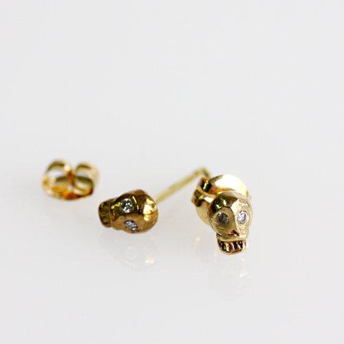 hirondelle et pepin(イロンデールエペパン) / k18 h-p-8-2-155 スカルピアス - ダイヤ(両耳タイプ)