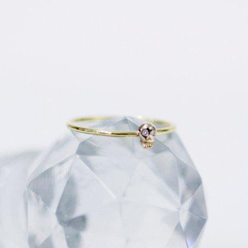 hirondelle et pepin(イロンデールエペパン) / k18 h-r-8-2-181 スカルリング - ダイヤ