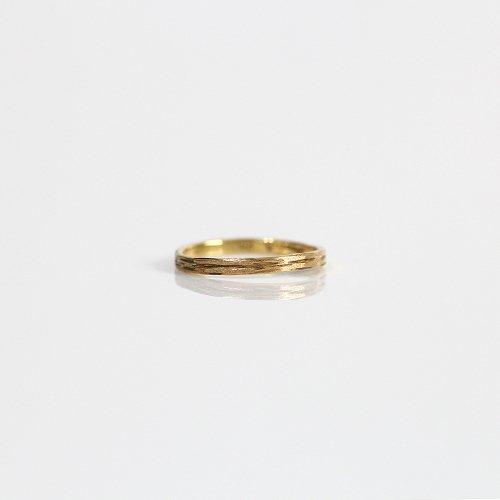 hirondelle et pepin(イロンデールエペパン) / k18 hr-7-7-151ゴールド 木目リング M