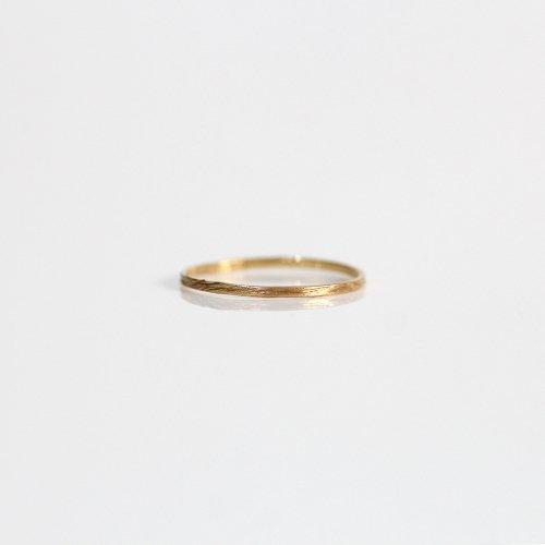 hirondelle et pepin(イロンデールエペパン) / k18 hr-7-7-150ゴールド 木目リング S