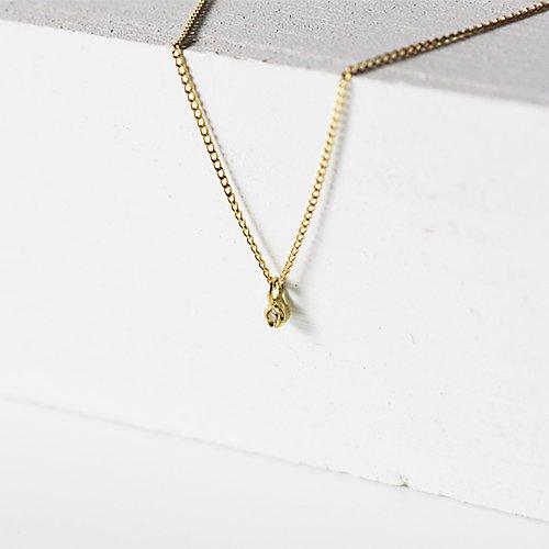 hirondelle et pepin(イロンデールエペパン) / k18 hn-322プチダイヤネックレス