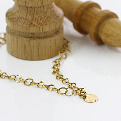 【廃番商品】Perche?(ペルケ) / k18 round chain ブレスレット